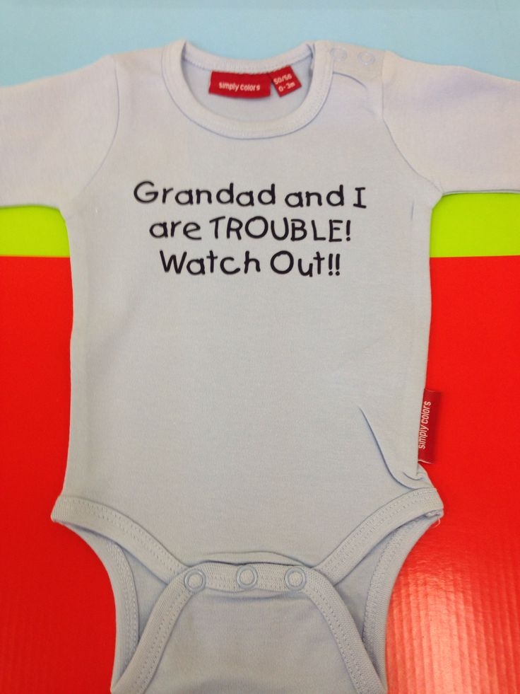 33 best newborn gift ideas images on pinterest personalised baby personalised baby grow from simplycolors grandad and i are trouble negle Image collections