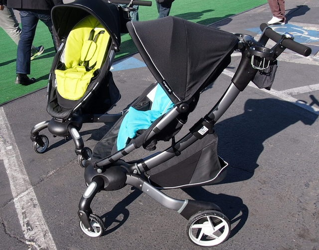 Hands on With the World's First Power Folding Stroller