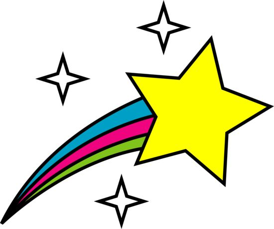 shooting clip star clipart colorful cute rainbow stars bright shining silhouette cartoon google designs backgrounds grade