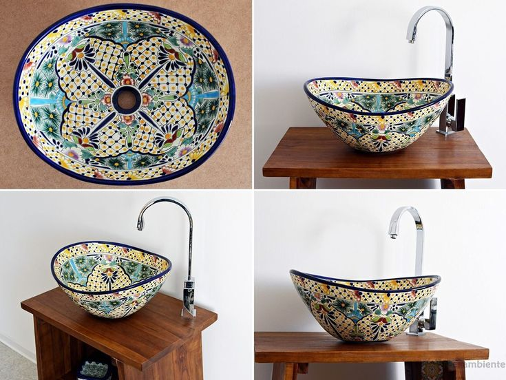 101 best Mexikanische Waschbecken images on Pinterest Bathrooms - waschbecken design flugelform