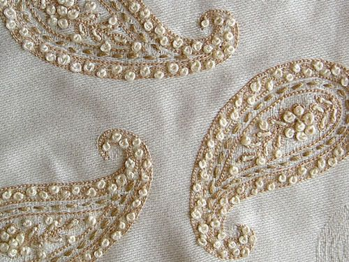 Hand embroidered paisley by soulquest.lifestyle, via Flickr