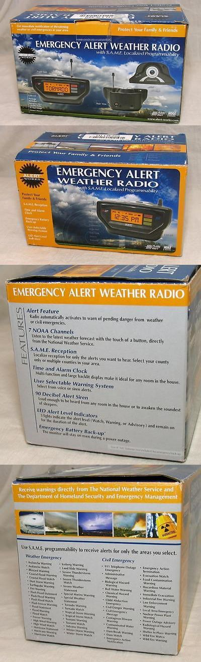 Portable AM FM Radios: Alert Works Ear-10 Noaa Emergency Weather Radio With Time, Alarm Clock New -> BUY IT NOW ONLY: $34 on eBay!