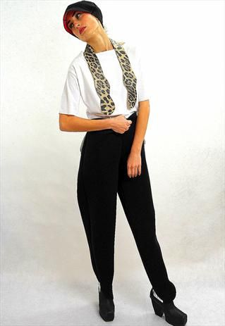 Raven neoprene high-waisted trousers
