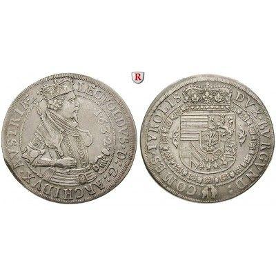 Römisch Deutsches Reich, Erzherzog Leopold V., Taler 1632, ss-vz: Erzherzog Leopold V. 1619-1632. Taler 1632 Hall. Dav. 3338; sehr… #coins