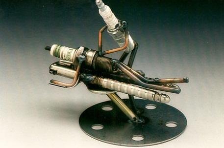 Dick Cooley AKA Sparkplug Man - Sculpture