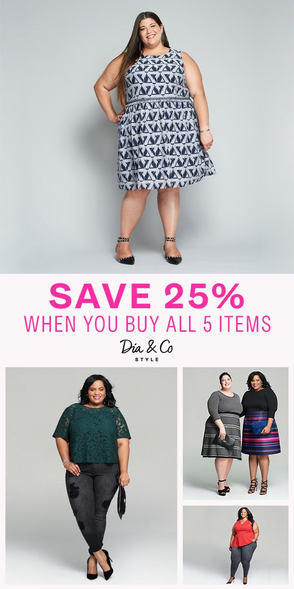 38bf52d36586 Get fall plus size clothes handpicked and delivered to your doorstep. Love  all 5 items in your Dia Style Box  Get 25% off your entire purchase!