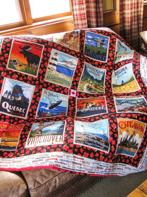 Canada 150 Quilt Canadian Lap Quilt by QuiltyPleasuresCraft