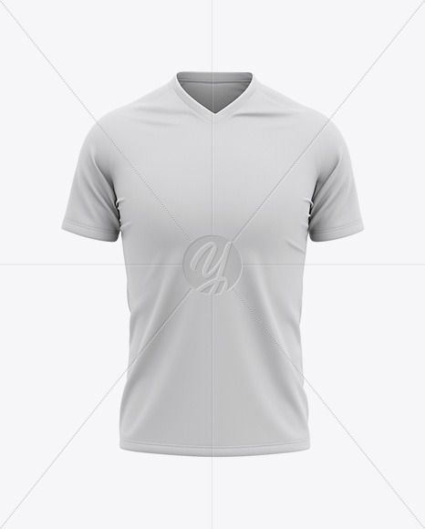 Men S V Neck Soccer Jersey Mockup Front View Of Soccer T Shirt In Apparel Mockups On Yellow Images Object Mockups Clothing Mockup Shirt Mockup Soccer Tshirts