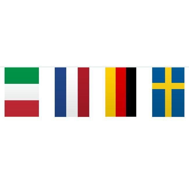 """Flaggen-Girlande """"Internationale Länder"""" 10 m"""