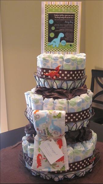 Diaper Cake...How adorable!