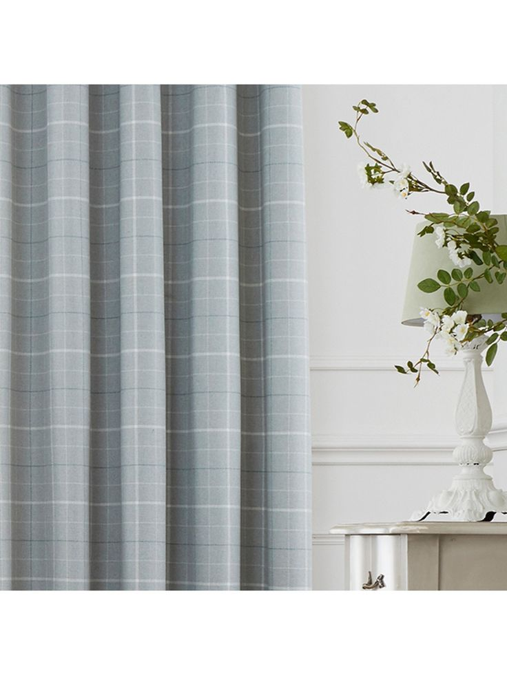 Checks are king this season and The Dunsmore Woven Check Eyelet Curtains in Duck Egg are fitting of the title. Featuring a contemporary check design on a wov...