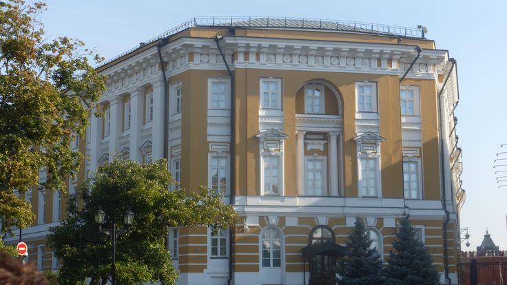 "Putin's office building in Kremlin, often called ""Putin's Palace"" - Photo by Richard & Joyce Poth, Group Escort"