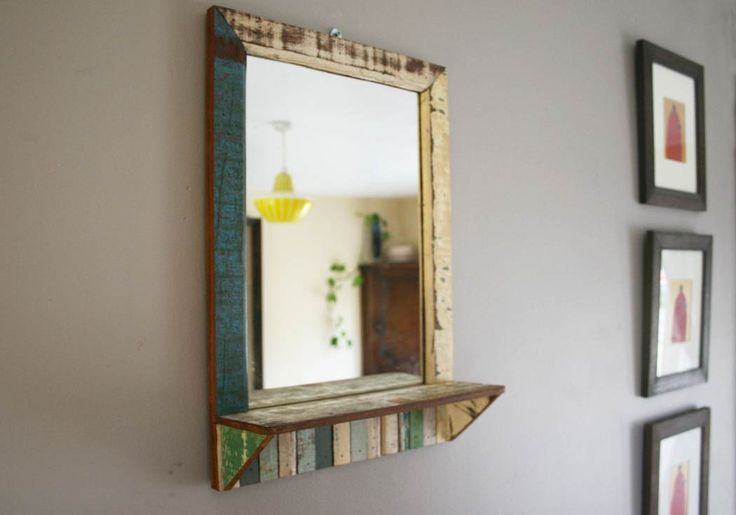 Photo Album Website Rustic Beach Small Antique Pastel Handmade Reclaimed Mirror CentralCrafts