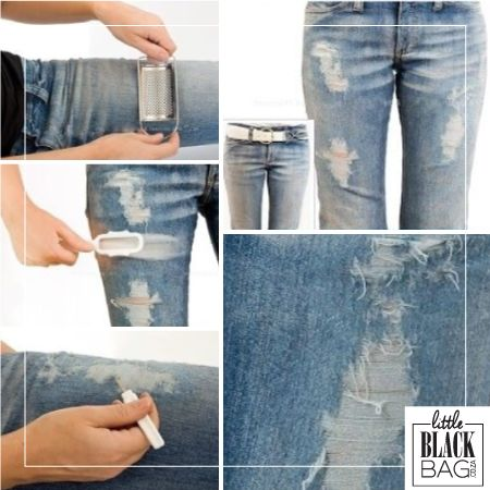 Give new jeans an old look this throwback thursday. Super easy! #tbt #lbbcoza