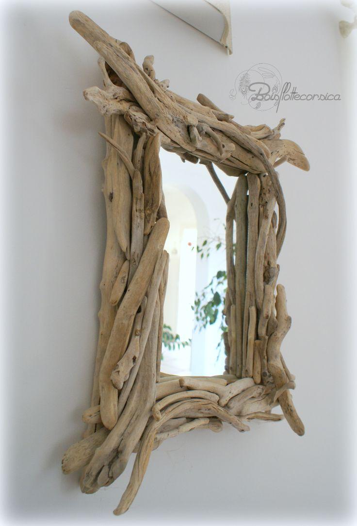 25 pinterest for Miroir en bois flotte