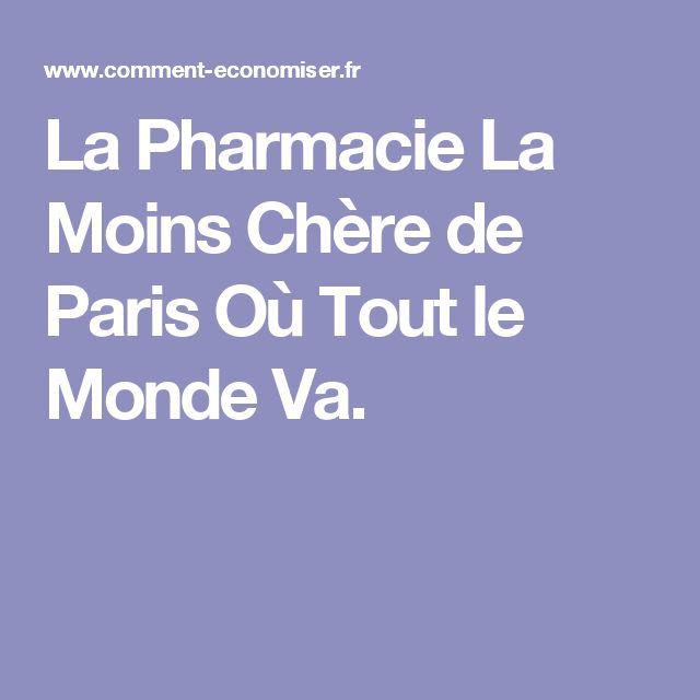 La Pharmacie La Moins Chère de Paris Où Tout le Monde Va.