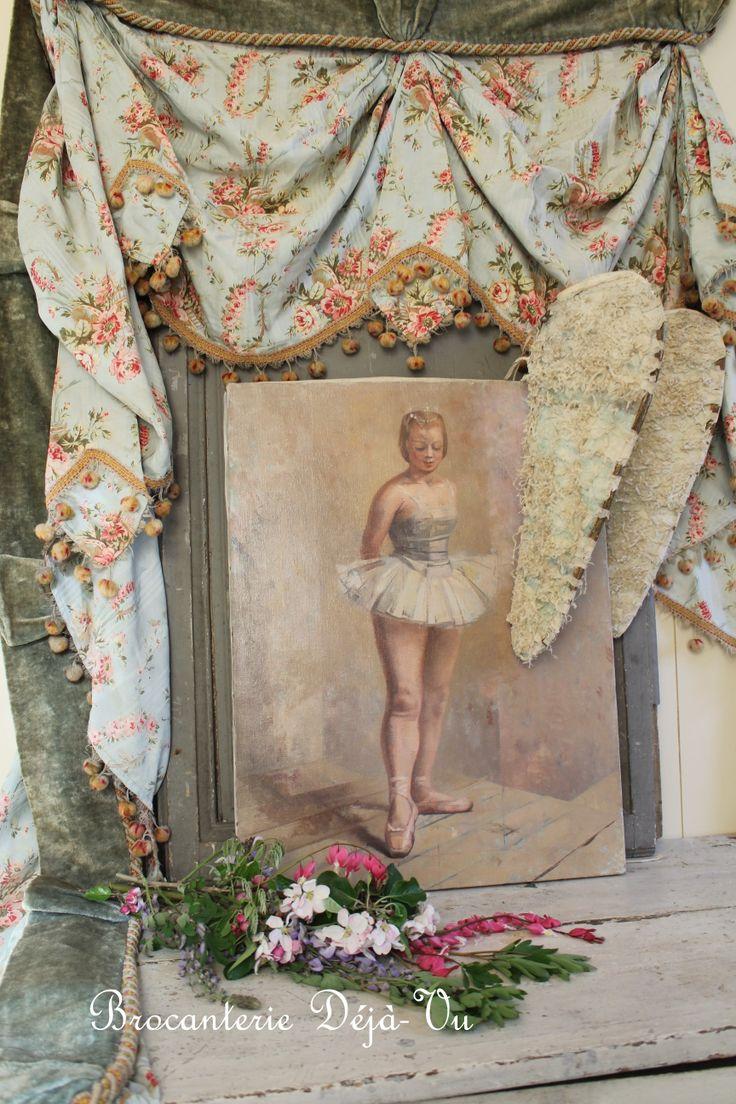 Kinds Of Vintage Floral Curtains - Ballet ballet paintingfloral curtainsvintage