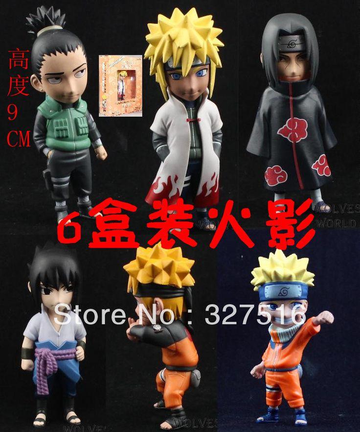 Горячее надувательство Японское аниме Наруто Высокое качество ПВХ Фигурку игрушки 6 шт./компл. Около 9 СМ подарок На День Рождения Бесплатно доставка