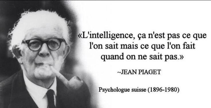 "RT @vendeursdelite  #citation ""L'intelligence, ça n'est pas ce que l'on sait mais ce que l'on fait quand n ne sait pas"" Jean Piaget"