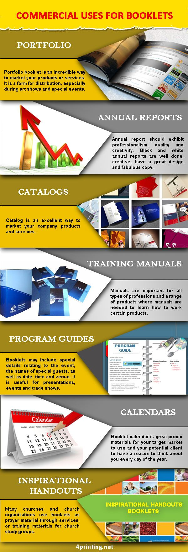 Commercial Uses for Booklets and printing services in Los Angeles, California in Orange Country .