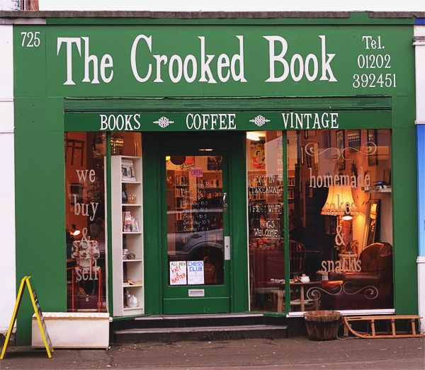 The Crooked Book, #Boscombe, #Dorset    http://www.eatsleepdorset.com/eat-shop-the-crooked-book-boscombe/