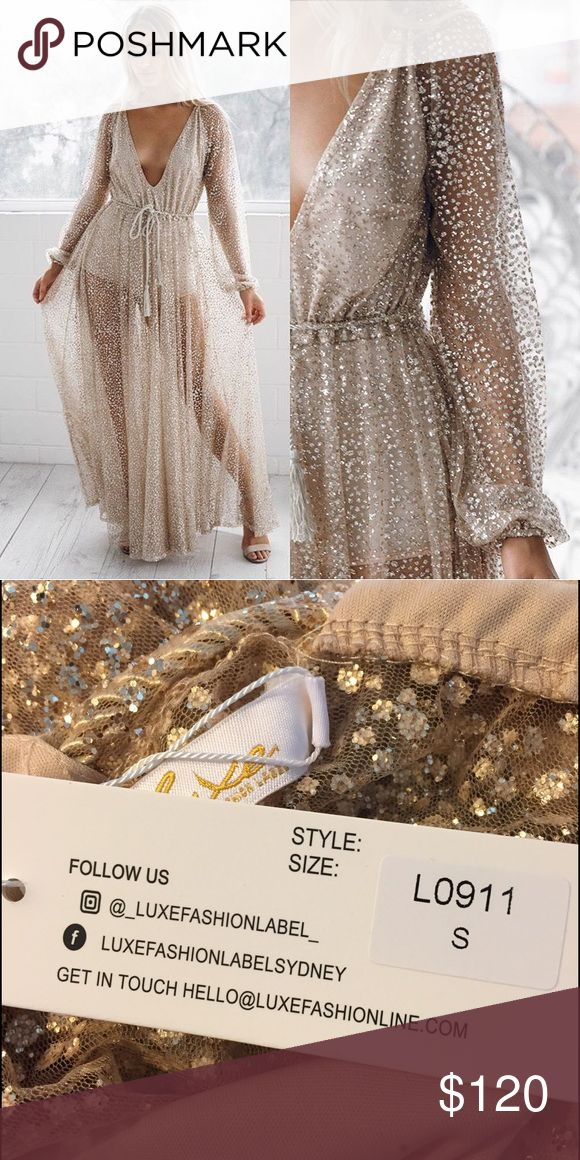 Gold sparkle dress NWT - purchased from Esther Boutique but does not fit correctly. Brand new, gorgeous! Sold out on website! Luxe Fashion Label Dresses