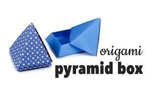 Origami Pyramid Box Tutorial Diy Cute Gift Box Paper Kawaii