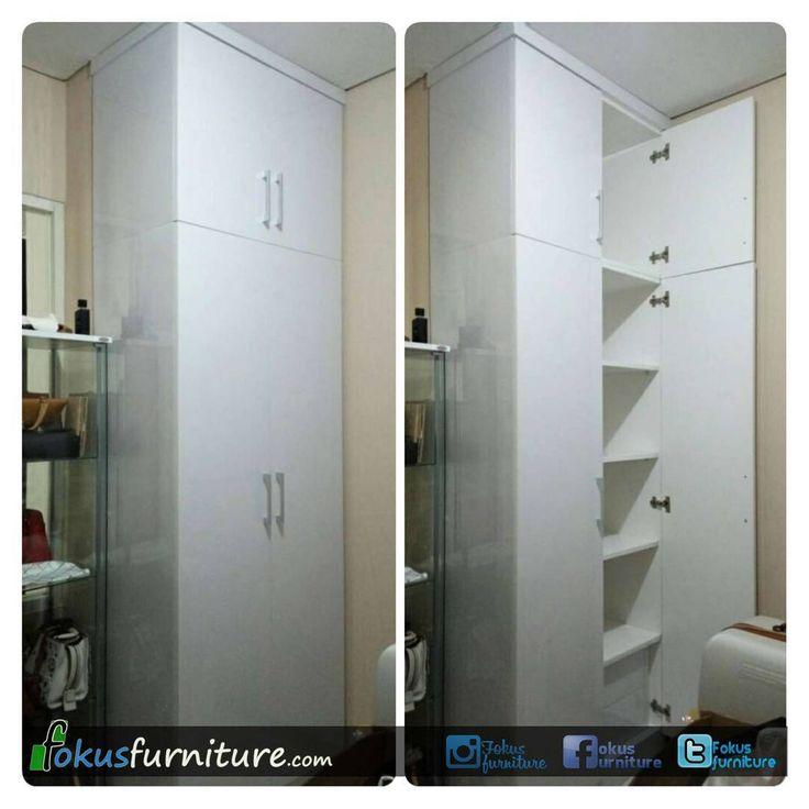"69 Suka, 8 Komentar - Furniture custom minimalis (@fokusfurniture) di Instagram: ""Lemari pakaian di apartemen niffaro pejaten pasar minggu.  #furnitureminimalis #Fokusfurniture…"""