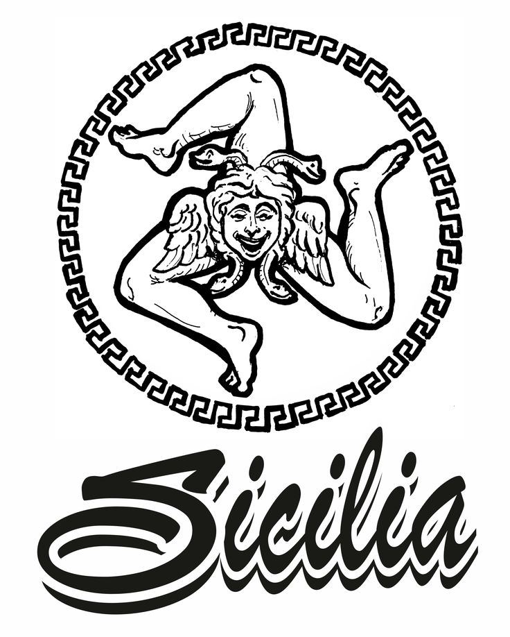 trinacria stilizzata dall'artista Dedo