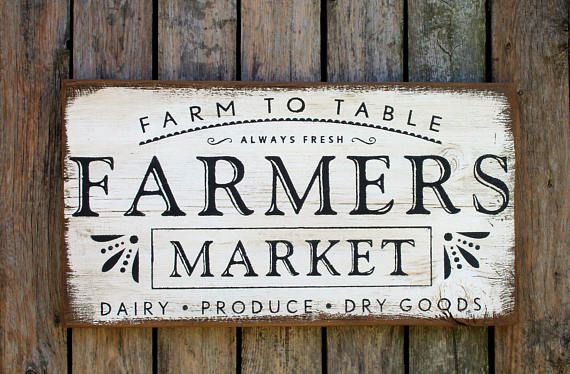 Farm to table Farmers Market Dairy Produce Dry Goods rustic