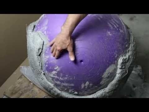 XXL Eierschale aus Beton als GARTENDEKO - YouTube                              …
