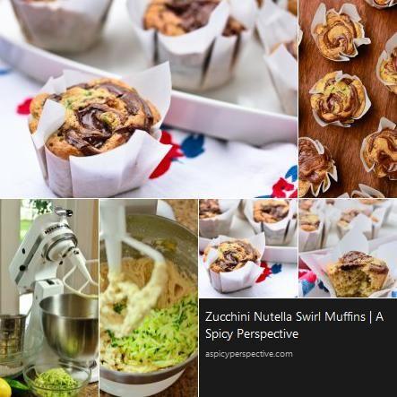 Zucchini Muffins With Nutella Swirl Recipe — Dishmaps