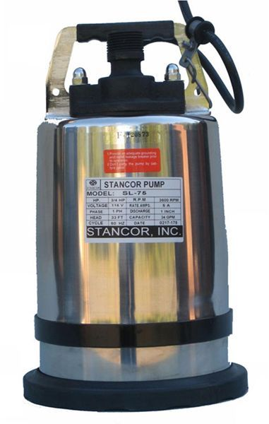 Stancor SL-75 Submersible Low Suction Dewatering Pumps