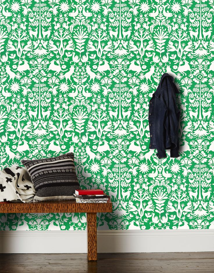 Our luxe, modern wallpapers are screen printed by hand Details - Roll: 27 in x 30 ft - Sample: 8.5 in x 11 in - Vertical Repeat: 27 in - Match: straight across - Finish: pre-trimmed - Material: clay c