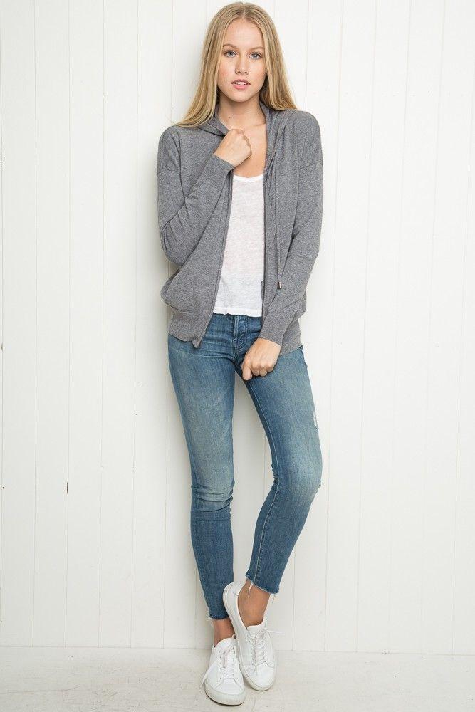 Brandy ♥ Melville   Zoie Hoodie - Sweaters - Clothing
