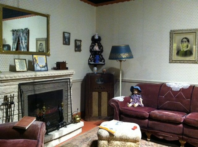 The 1930's Living Room in the History Wing at Northeastern Nevada Museum gives a snapshot in time of ordinary family life during the 1930's. Piano music, radio, reading and conversation are what provided entertainment for this family! #nnm #historywing