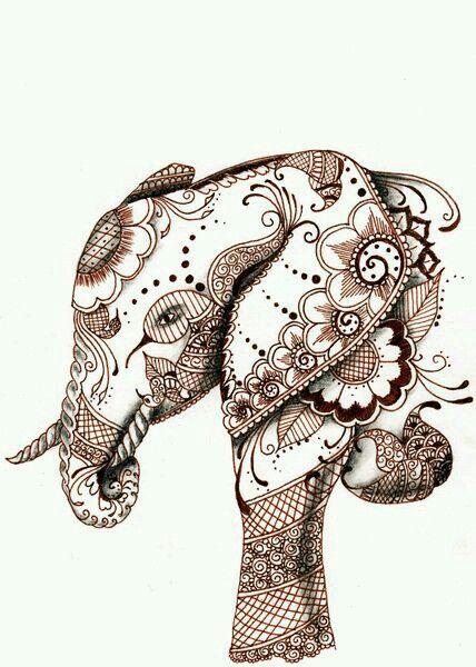 Elefante henna