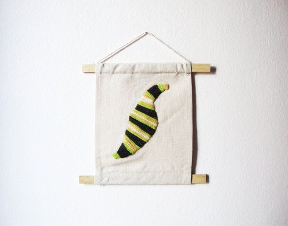 FREE SHIPPING  COCOON wall decor  yarn on calico by AKUGI on Etsy, €12.00