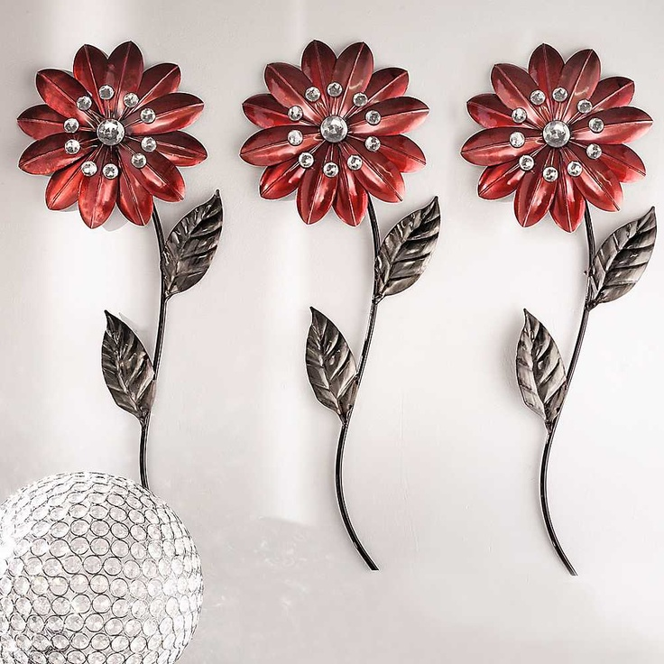 Metal Flower Wall Art metal wall art flowers - shenra