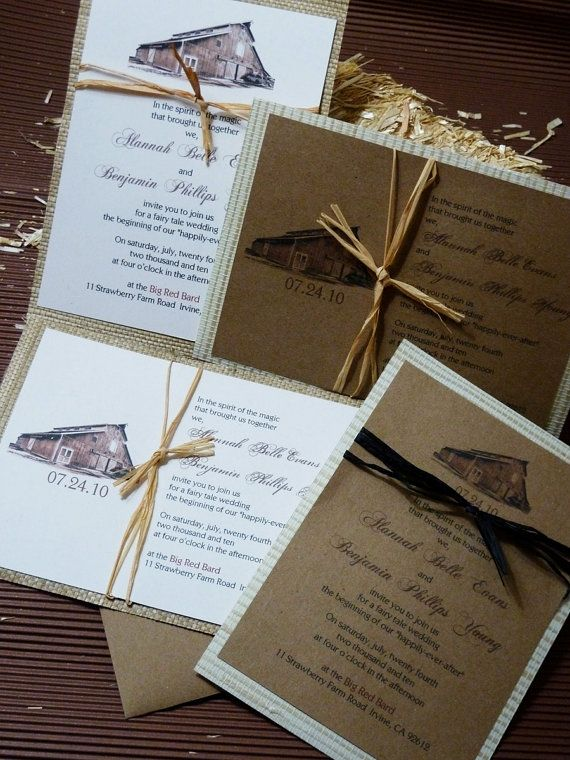 32 best Barn Wedding invites images on Pinterest Invitations