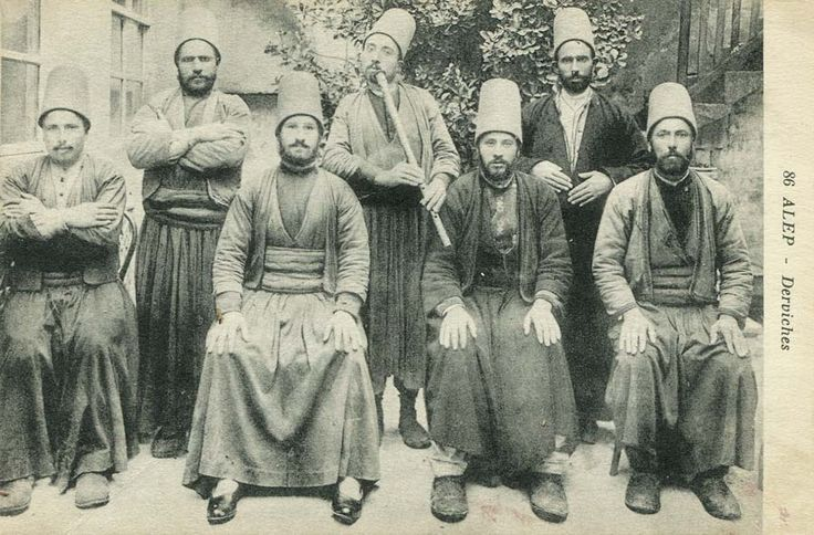 Mevlevi Dervishes of Aleppo, Syria, 1900s (Halep'de Mevlevi Dervişler)