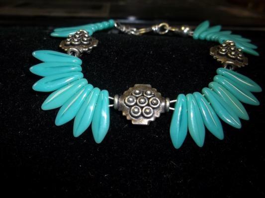 Turquoise dagger bracelet: Dagger Bracelets, Turquoise Dagger