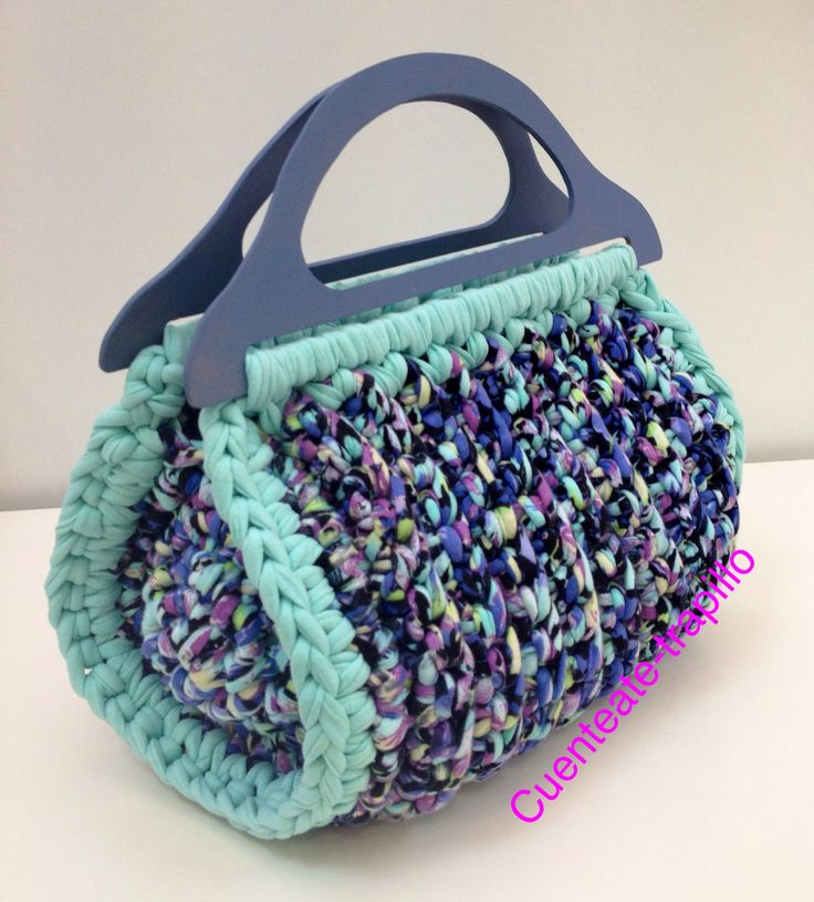 1000 images about alfombra trapillo on pinterest for Bolso crochet trapillo