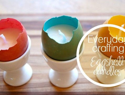 Make your own eggshell candles