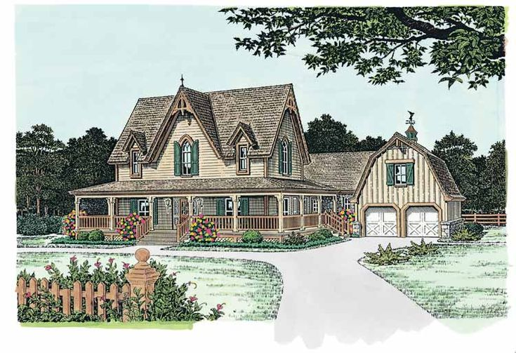 Gothic house plans floor plans aflfpw14779 2 story One story victorian homes