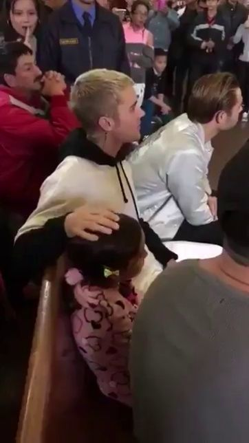"bieber-news: ""April 12: Fan taken video of Justin at church in Bogota, Colombia. """