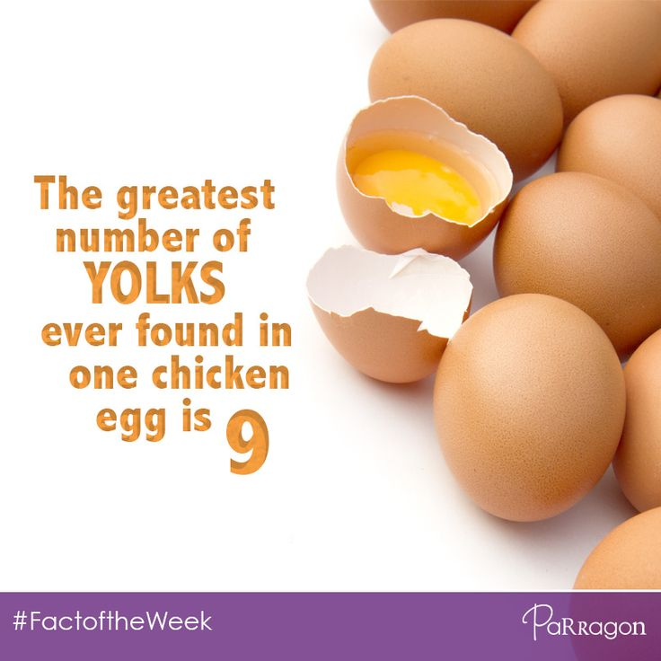 The greatest number of yolks ever found in one chicken egg is 9! Wow! #FactoftheWeek #Easter #Egg #Spring