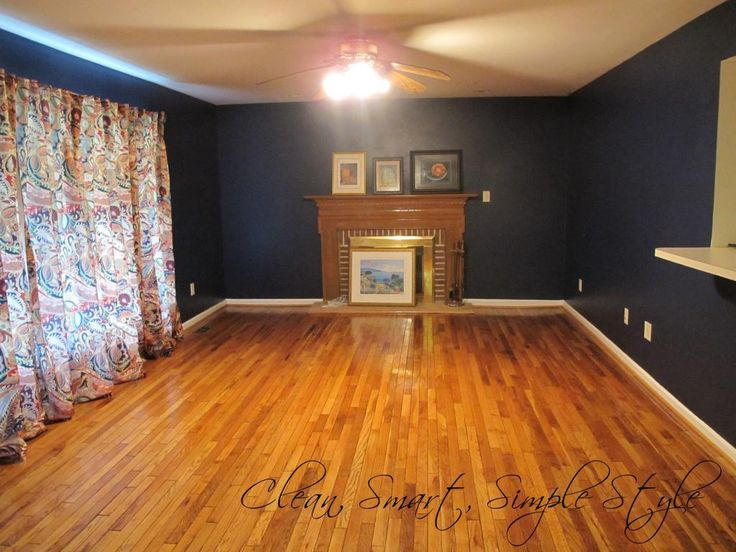 Navy Blue Wall Color With Wood Floors