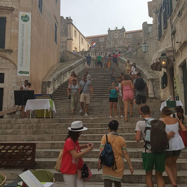 The Jesuit Stairs, scene of the walk of shame.