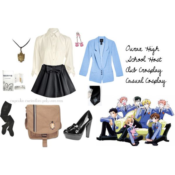 """""""Ouran High School Host Club Crosplay Casual Cosplay"""" by cupcake-curiosities on Polyvore"""